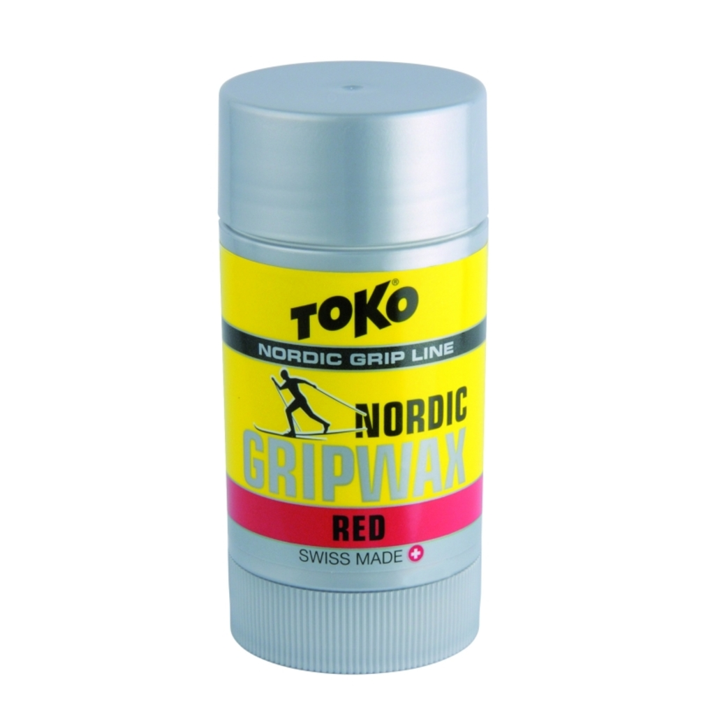 Toko wosk do biegówek Nordic Grip Wax 25g, Red
