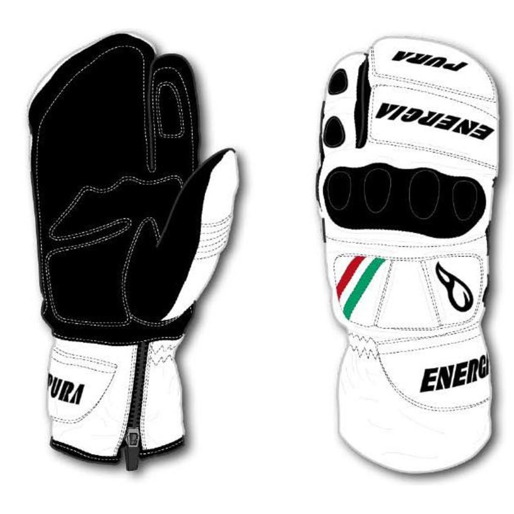 Energiapura Slalom 3 Fingers Leather Gloves with Protectors W/Prot