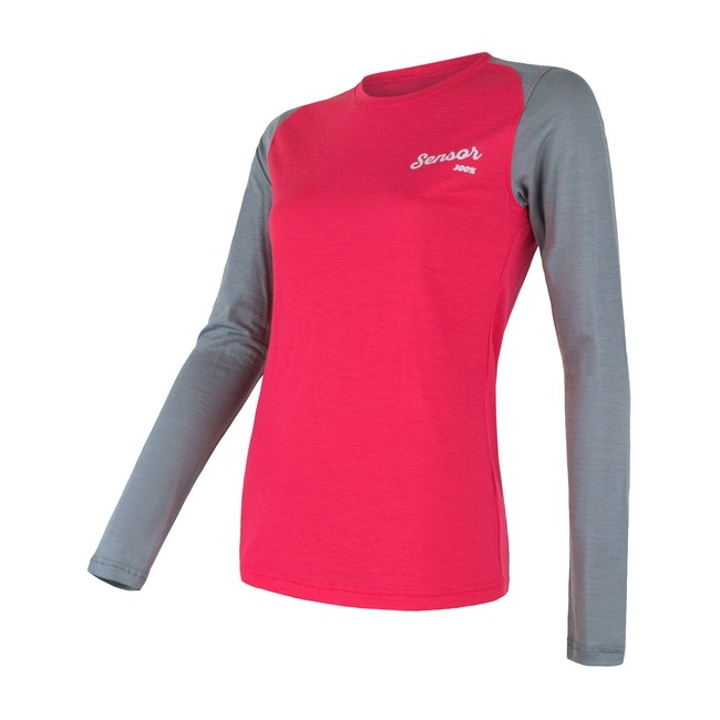 Sensor Merino Active PT LOGO Women's T-Shirt Long Sleeves - Logo on Sleeve
